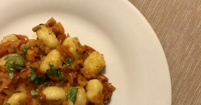 Gnocchi se zeleninovou omáčkou I.