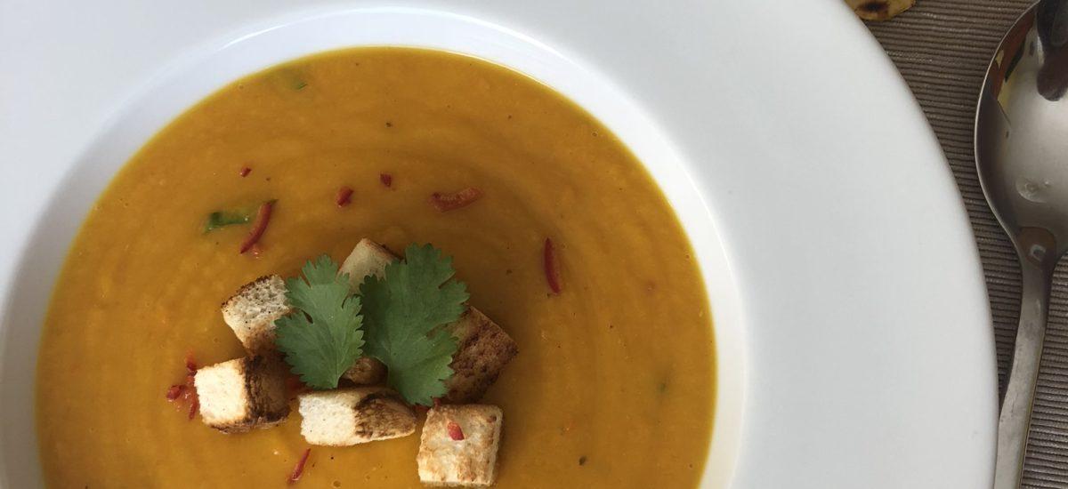 Pečená dýňová polévka